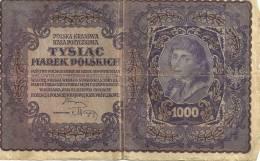 POLSKA KRAJOWA   TYSIAC  MAREK POLSKICE  1000        1919 - Pologne