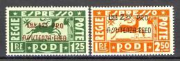 Egeo 1943 SS 41 Occupazione Tedesca. Pro Assistenza Egeo, Espressi N. E3-E4 MNH, Firmati Biondi Cat € 400 - Aegean (German Occ.)