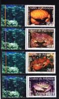 POLYNESIE 2011  Une Série  N° 935** A 938** Faune Crustacés Crabes BDF - Unclassified