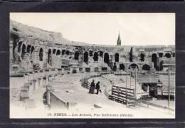 38392     Francia,   Nimes  -  Les  Arenes  -  Vue  Interieure (datails),  NV - Nîmes