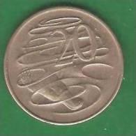 20  Cent  AUSTRALIE   1966  (PRIX FIXE)   (AV21) - Monnaie Décimale (1966-...)