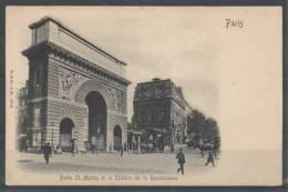 75 - PARIS 10 - Porte Saint-Martin Et Le Théâtre De La Renaissance - Stengel 10041 - Distretto: 10