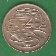 20  Cent  AUSTRALIE   1967  (PRIX FIXE)   (AV22) - Monnaie Décimale (1966-...)