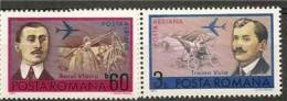 ROMANIA 1972 PLANE PIONEERS MONOPLANE SC # C189-190 MNH - Nuovi