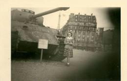 Photo Char PANTHER Allemand PARIS Panzer Les Invalides WW2 - Guerre, Militaire