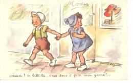 Carte  Humour D´enfants  Par  Jeanne   La  Garde - Children's Drawings