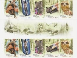 Australia 2010 Wildlife Caring Gutter Strip - Sheets, Plate Blocks &  Multiples