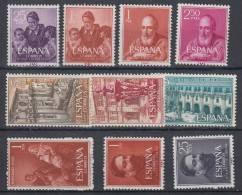 ESPAÑA 1960:EDIFIL LOTE VARIOS VER DESCRIPCION ABAJO.NUEVOS SIN CHARNELA.COMPLETA.SES 179 - 1931-Hoy: 2ª República - ... Juan Carlos I