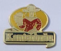 Pin's KANTERBRAU - Le Logo - Homme Chope à La Main -  C434 - Beer