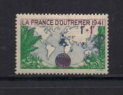France 1941 Mint Hinged Stamp(s) Oversees Propaganda Fund Nr. 536 (no Glue) - France