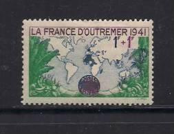 France 1941 Mint Hinged Stamp(s) Oversees Propaganda Fund Nr. 536 (no Glue) - Frankrijk