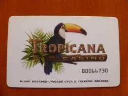 Hungary Tropicana Casino Entry Card, Bird - Casinokarten