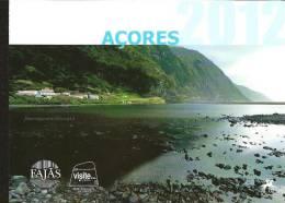 2012 - AZORES /AÇORES -CARTEIRAS ANUAIS 2012–YEAR PACK-PRUEBAS COLOR  NUMERADA- SELLO Y HB EUROPA +TODOS LOS SELLOS Y HB - Europa-CEPT