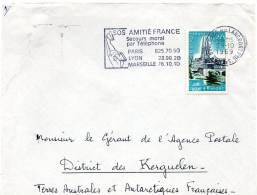T A A F .Kerguelen Lettre   Boulogne/Billancourt Pour Kerguelen - Terres Australes Et Antarctiques Françaises (TAAF)