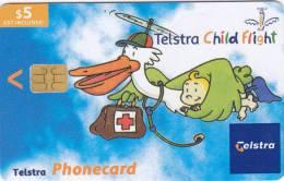 Australia, 02005011N, Telstra Child Flight (Exp.Oct'04), 2 Scans. - Australia