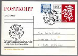 90989) Schweden Ganzsache - Michel P 105 - OO Gestempelt 1981 - Postwaardestukken