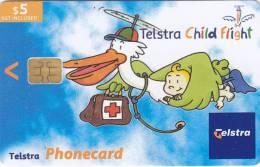 Australia, 02005011N, Telstra Child Flight (Exp.Jul.05), 2 Scans. - Australia