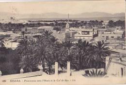BISKRA / PANORAMA VERS L OASIS ET LE COL DE SFA - Biskra