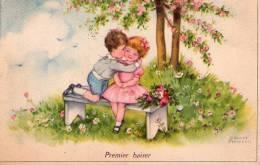 00 - DESSIN - PREMIER BAISER - Enfants -années 1900 - Petersen, Hannes