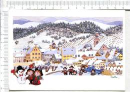 NAÏF - Village ALSACIEN - - Paintings