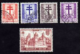 Lot De Timbres De 1951 Antituberculeux Cob 868 - 869 - 870 - 871 - 872 - Used Stamps