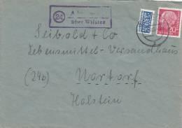 """Brief Mit  Landpoststempel: """"24 Aebtissinwisch über Wilster"""", Mit Poststempel: Wilster 28.10.1955 - BRD"""