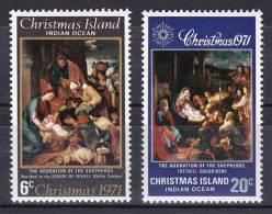 Christmas Island - 1971 ( Adoration Of The Shepherds ) - Complete Set - MNH (**) - Christmas Island