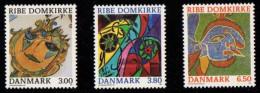 DEN SC #834-6 MNH  1987 Religious Art (Ribe Cathedral), CV $7.00 - Denmark