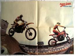 Motorrad Poster :  Super Cross In Daytona USA  -  Rückseite : Farrah Fawcett-Majore  -  Ca. 1982 Aus Der Pop-Rocky - Motorräder