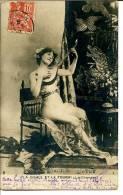 La Cigale Et La Fourmi : La Chanson - Jeune Femme Jouant Du Luth - Cuentos, Fabulas Y Leyendas