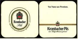 2 X Bierdeckel  Krombacher Pils  ,  Mit Felsquellwasser Gebraut  -  Von Natur Aus Premium - Sous-bocks