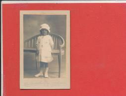 Photo Enfant Chapeau  63 X 105 Mm     Photographe Henri Caudevelle BOULOGNE Sur MER - Personnes Anonymes