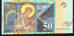 MACEDONIA   P15a   50   DENARI  1996 Prefix AA RARE   UNC. - Macedonia