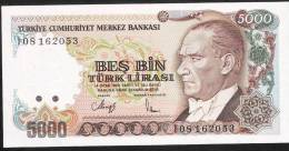 TURKEY   P198   5000  LIRA    1970    UNC. - Turquie