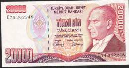 TURKEY   P201    20.000  LIRA    1970    UNC. - Turquie