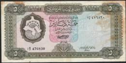 LIBYA   P36b   5   DINARS   1972    FINE Writtings On Back NO P.h. ! ! - Libye