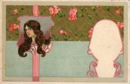ART - NOUVEAU - Femme En Médaillon - Genre Kirchner    (54620) - 1900-1949