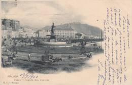 MALAGA. Paseo Y Fuente Del Parque - Málaga