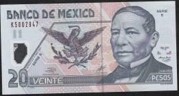 MEXICO   P116a   20  PESOS   17 May  2001 Serie E       UNC. - Mexico