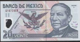 MEXICO   P119b     20  PESOS  26 March 2002  Serie U      UNC. - Mexico