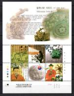 COREE DU SUD 2000. N°1901-5. Millénium/Imprimerie/Coton. - Corée Du Sud