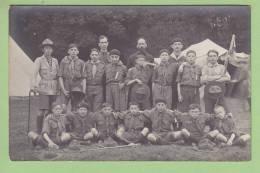 CHAMARANDE, Carte Photo Années 1920 : Patrouille Scouts De France. 2 Scans - Scoutisme
