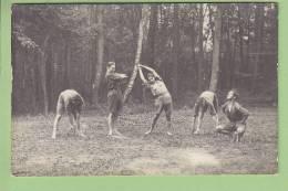 CHAMARANDE, Carte Photo Années 1920 : Scouts De France, Gymnastique Matinale. 2 Scans - Scoutisme