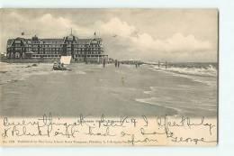 EDGEMERE HOTEL, EDGEMERE Long Island. Dos Simple. 2 Scans. - Etats-Unis