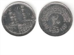 Egypte 20 Piastres 1992  Km 733 Xf+ - Egypte