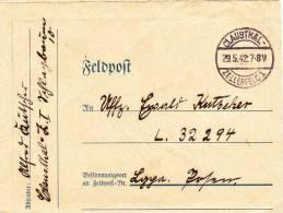 Feldpost WW2: To 3. Kompanie Luftwaffen-Bau-Bataillon 8/VIII FP L32294 LGPA Posen Dtd Claushal-Zellerfeld 1 29.5.1942 - - Militaria
