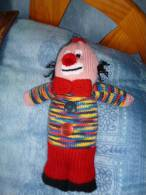 """Petit """"doudou Clown"""" Fait En Tricot - Laine"""