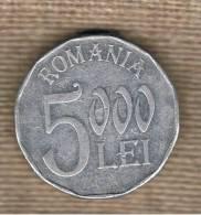 RUMANIA  -  5000 Lei  2002  KM158 - Rumania