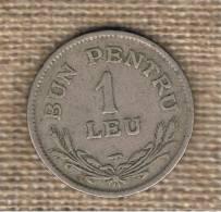 RUMANIA  -  1 Leu 1924  KM46 - Rumania