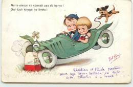 Notre Amour Ne Connait Pas Les Bornes! Carte Illustrée Par Bob Kings. - Cartes Humoristiques